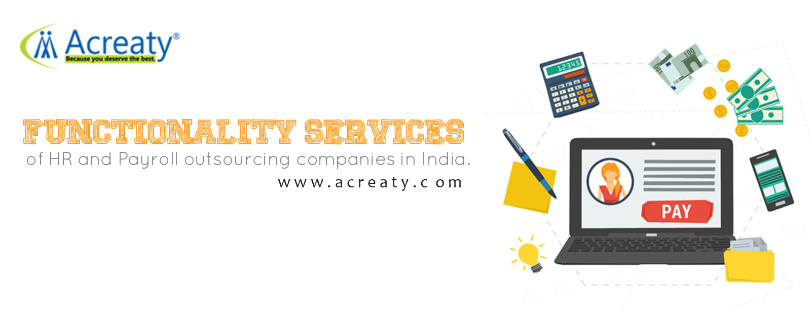 Functionality services for HR and Payroll outsourcing companies in India