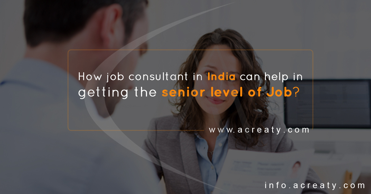 How job consultant in India can help in getting the senior level of Job?